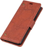 Mobigear Copper Buckle Retro Wallet Hoesje Bruin Xiaomi Mi 8