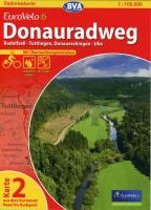 BVA-Radreisekarte Eurovelo 6 Karte 02 Donauradweg 1 : 100 000