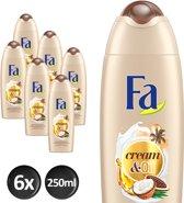 Fa Shower cream Cream&Oil Cacaobutter & Coco Oil x6