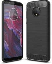 Rugged TPU Motorola Moto G6 Plus Case - Zwart