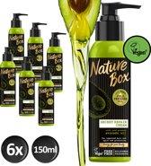 Nature Box Haarkuur Vegan 150ml Avocado Repair Creme - 6 stuks - Voordeelverpakking