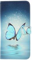 Magic blauw vlinder agenda wallet case hoesje Samsung Galaxy A50