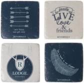 Riverdale onderzetter Live wit en blauw