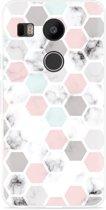 LG Nexus 5X Hoesje Marmer Honeycomb