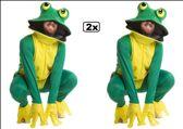 2x Kikker deluxe groen-geel one size