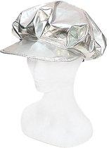 Zilveren disco petje voor dames