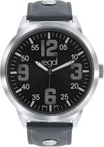 Regal - Regal horloge XL grijze band