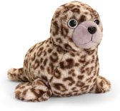Keel Toys pluche zeehondje bruin zeehonden knuffel 35 cm - zeedier knuffeldieren - Speelgoed voor kind