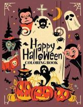 Happy Halloween Coloring Book: Funny spooky Halloween coloring activity book for adult kids 37 Coloring Instillation for color Halloween celebration