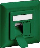Goobay Netwerk wandcontact inbouwdoos - 2x RJ45 / CAT6a - groen