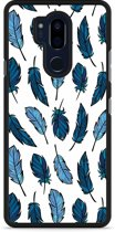 LG G7 Hardcase Hoesje Feathers
