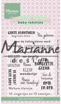 Marianne Design Stempel Elines baby tekstjes (Nederlands) EC0171