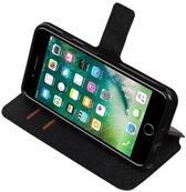 iPhone 7/8 Plus Zwart   Cross Pattern TPU bookstyle / book case/ wallet case    WN™