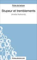 Boek cover Stupeur et tremblements dAmélie Nothomb (Fiche de lecture) van Laurence Binon (Onbekend)