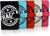 Hp Pro Tablet 608 G1 Fragile Print Case, Trendy Hoesje, rood , merk i12Cover