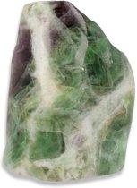 Fluoriet regenboog half gepolijst (3.00) - groen / paars