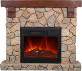 EL Fuego elektrische open haard Villach - Steenmotief - 1800 W