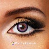 Kleurlenzen 'Purple Waves' jaarlenzen inclusief lenzendoosje - paarse contactlenzen Partylens®