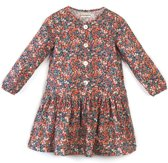 Milou & Pilou Whiltshire Jurk Liberty Print Red Floral-4 j