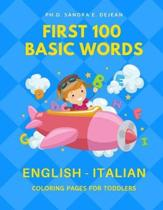 First 100 Basic Words English - Italian Coloring Pages for Toddlers