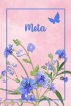Meta: Personalized Journal with Her German Name (Mein Tagebuch)