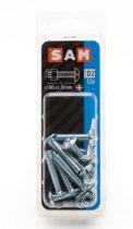 12X SAM Kachelbout + moer verzinkt 5x30mm D2 816276