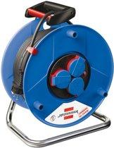Brennenstuhl Kabelhaspel - 50 m met 3 x 1.5 mm2 Rubber Snoer - Blauw/Zwart