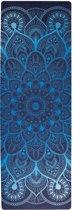 ZENAGOY GO Spirit's Yoga mat Empire Blue van Rubber met Microvezel Toplaag | Inclusief Draagband | Eco-Vriendelijk | Ideaal voor Hot Yoga, Bikram en Ashtanga | 180 x 61cm x 3.5mm