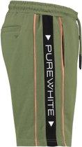 Purewhite Triangle Tape Jogger Short Green