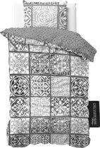 Dreamhouse Bedding Alhambra - Dekbedovertrek - Eenpersoons - 140x200/260 + 1 kussensloop 60x70 - Antraciet