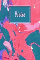 Notes: College Lined Journal, Blank Lined Notebook For Artists, Adults, Girls And Boys With Mixed Marble Cover