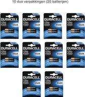 20 x Duracell Ultra LR61 / E96 / AAAA / MN2500