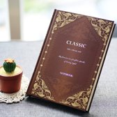 Luxe Vintage Dagboek Met Cijferslot - Notebook Met Geheime Code Slot - Bruin
