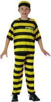 Geel gevangene kostuum voor jongens - Maat 122/128