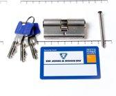Winkhaus Cilinder dubbel buiten x binnen 30/30mm voorzien van SKG ***, met certificaat en 3 sleutels