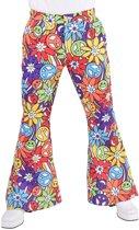 Hippie Kostuum   Hippie Symbolen Jaren 60 Broek Man   XL   Carnaval kostuum   Verkleedkleding