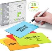 25 Scrum Whiteboard Magneten Herschrijfbaar Medium Mix Kleuren