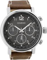 OOZOO Timepieces C9457 Metaal Bruin Donkergrijs 48mm