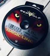Vislijn - 0,35 mm - 200 mtr - redwolf - Nylon - Zeevissen