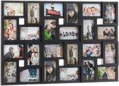 relaxdays fotolijst collage XXL - fotocollagelijst - kunststof collagelijst - 24 foto's wit