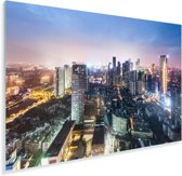 Skyline van Chengdu Plexiglas 90x60 cm - Foto print op Glas (Plexiglas wanddecoratie)