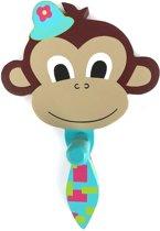 Kinderkapstokje aap jongen hout - kinderkapstok kinderen kinderkamer dieren -