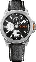 Hugo Boss Orange New York HO1513155 - Horloge - Leer - Zwart - 44 mm