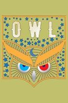Owl: With a matte, full-color soft cover, this lined journal is the ideal size 6x9 inch, 54 pages cream colored pages . It