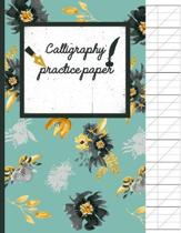 Calligraphy Practice paper: Black & gold watercolor hand writing workbook for adults & kids 120 pages of practice sheets to write in (8.5x11 Inch)