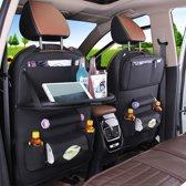 Luxe auto organizer met tablethouder, autostoel organizer, met tafel, voor baby en kinderen, voor iPad en andere tablets.