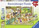 Ravensburger puzzel Vrolijk boerderijleven 2 x 24 stukjes