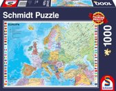 The Countries of Europe - Legpuzzel - 1000 Stukjes