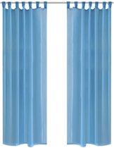 vidaxl gordijn turquoise 140x225 cm 2 stuks