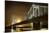 De brug van Krefeld in Duitsland Aluminium 90x60 cm - Foto print op Aluminium (metaal wanddecoratie)